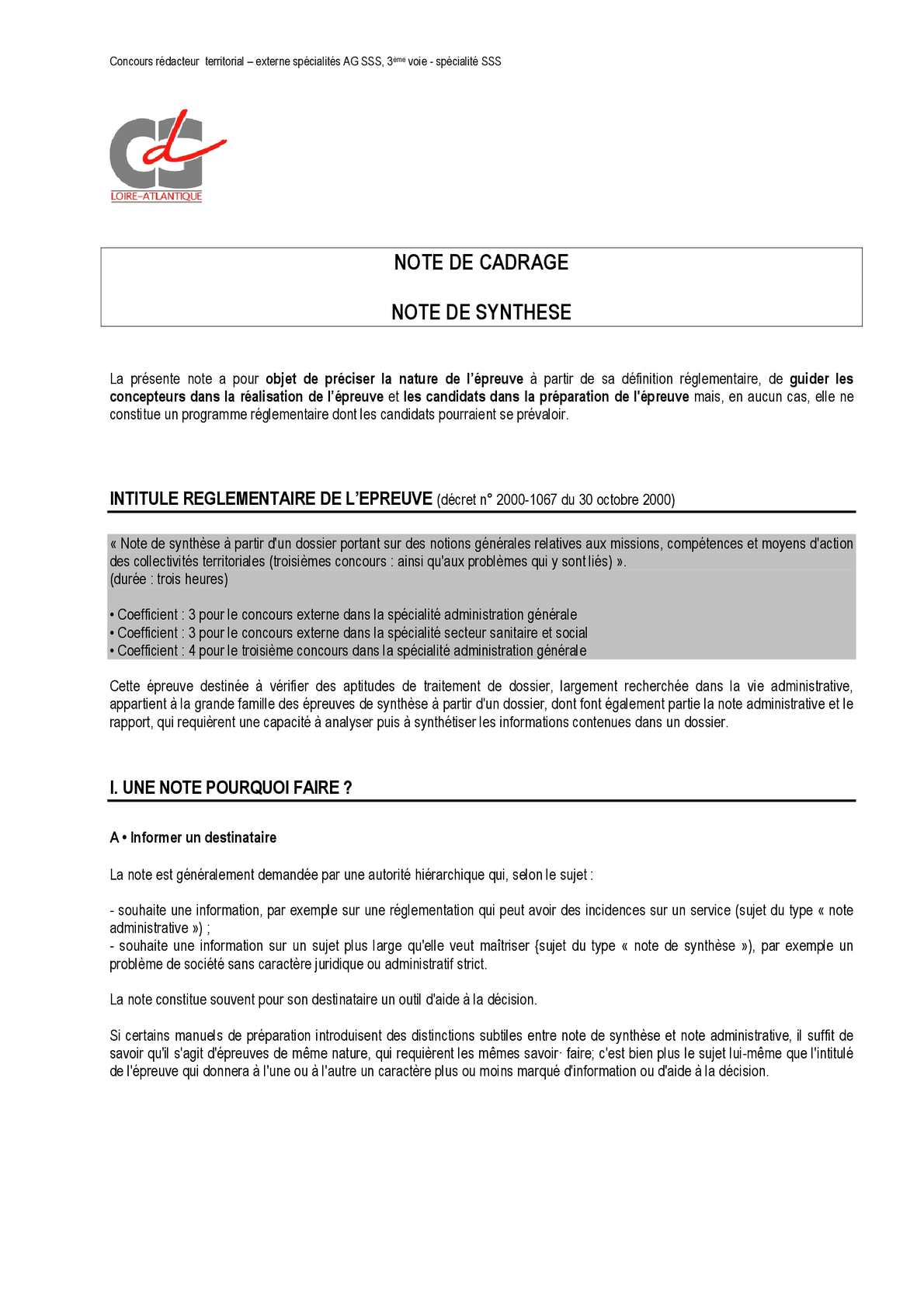 note lettre administrative