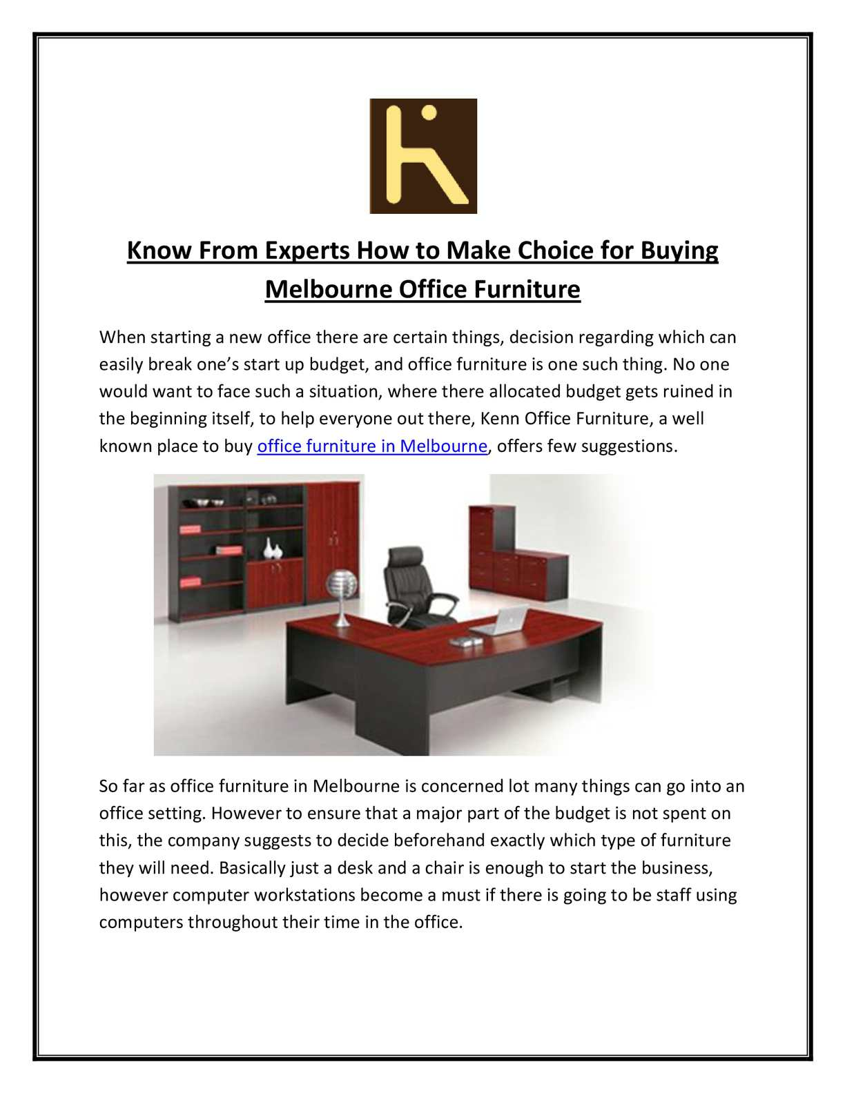 Used Office Furniture Melbourne Calaméo Kenn Office Furniture Guides To Decide Which Office