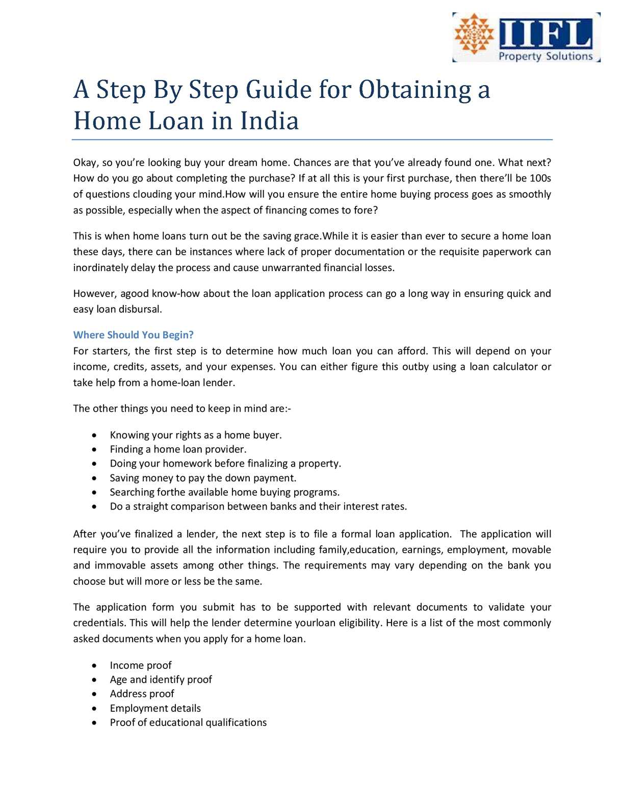 Bank For Home Loan In India Calaméo A Step By Step Guide For Obtaining A Home Loan In India