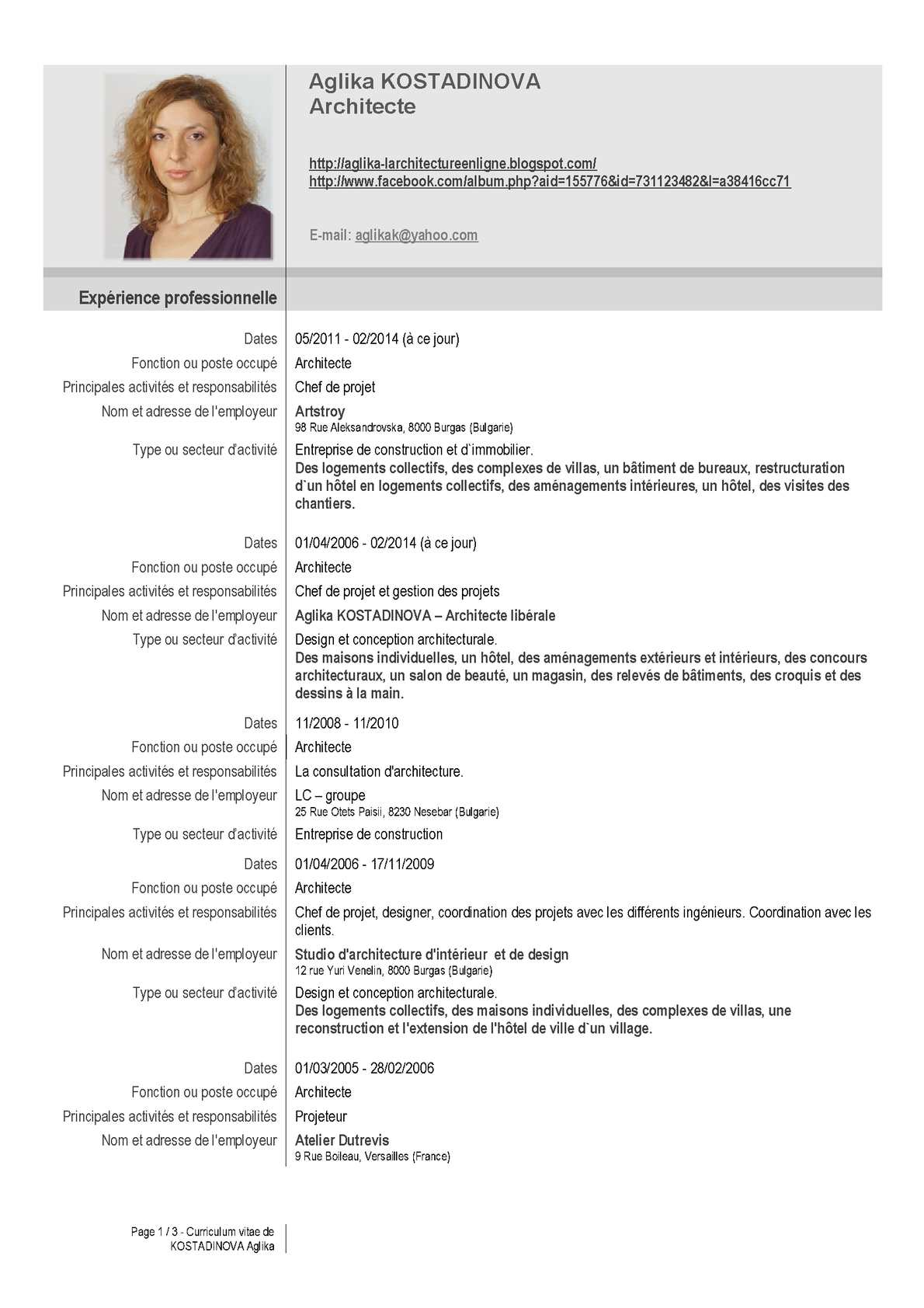 restructuration professionnelle cv