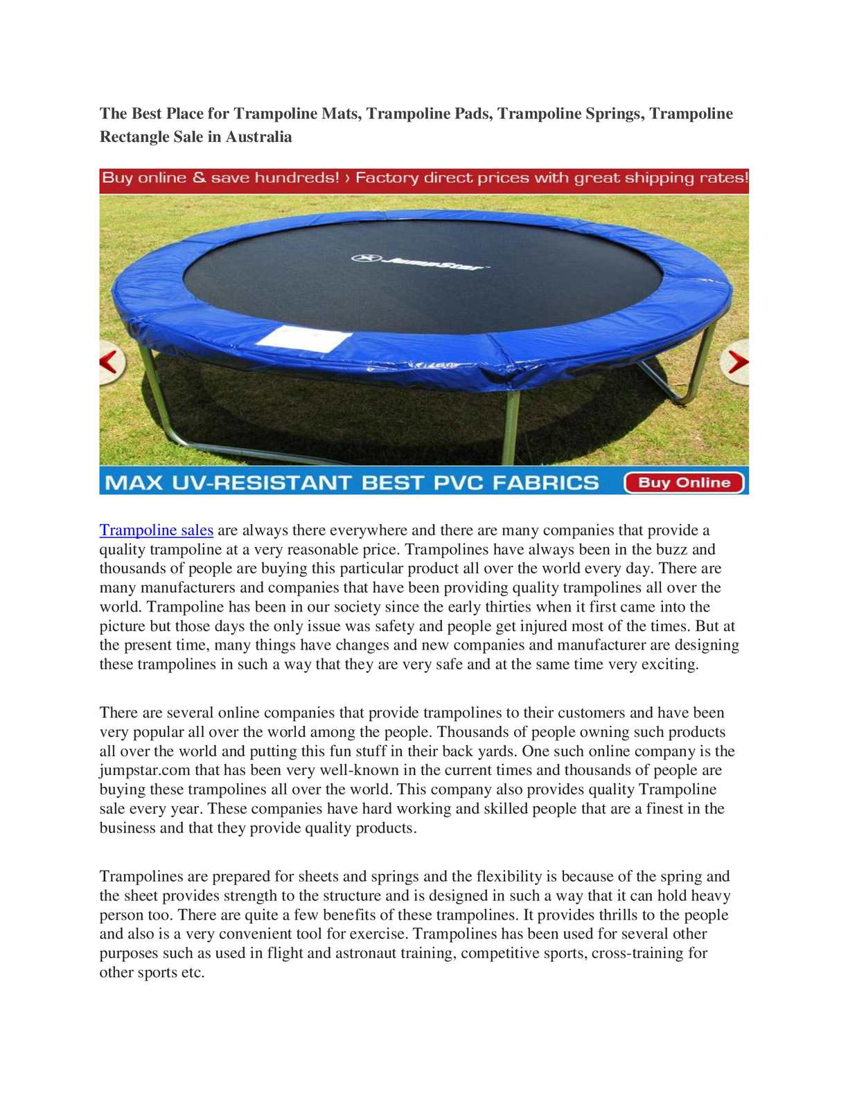 Trampoline Sale Australia Calaméo The Best Place For Trampoline Mats Trampoline