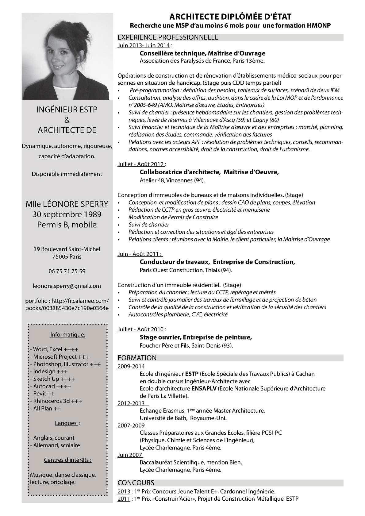 photo de cv ingenieur chimiste
