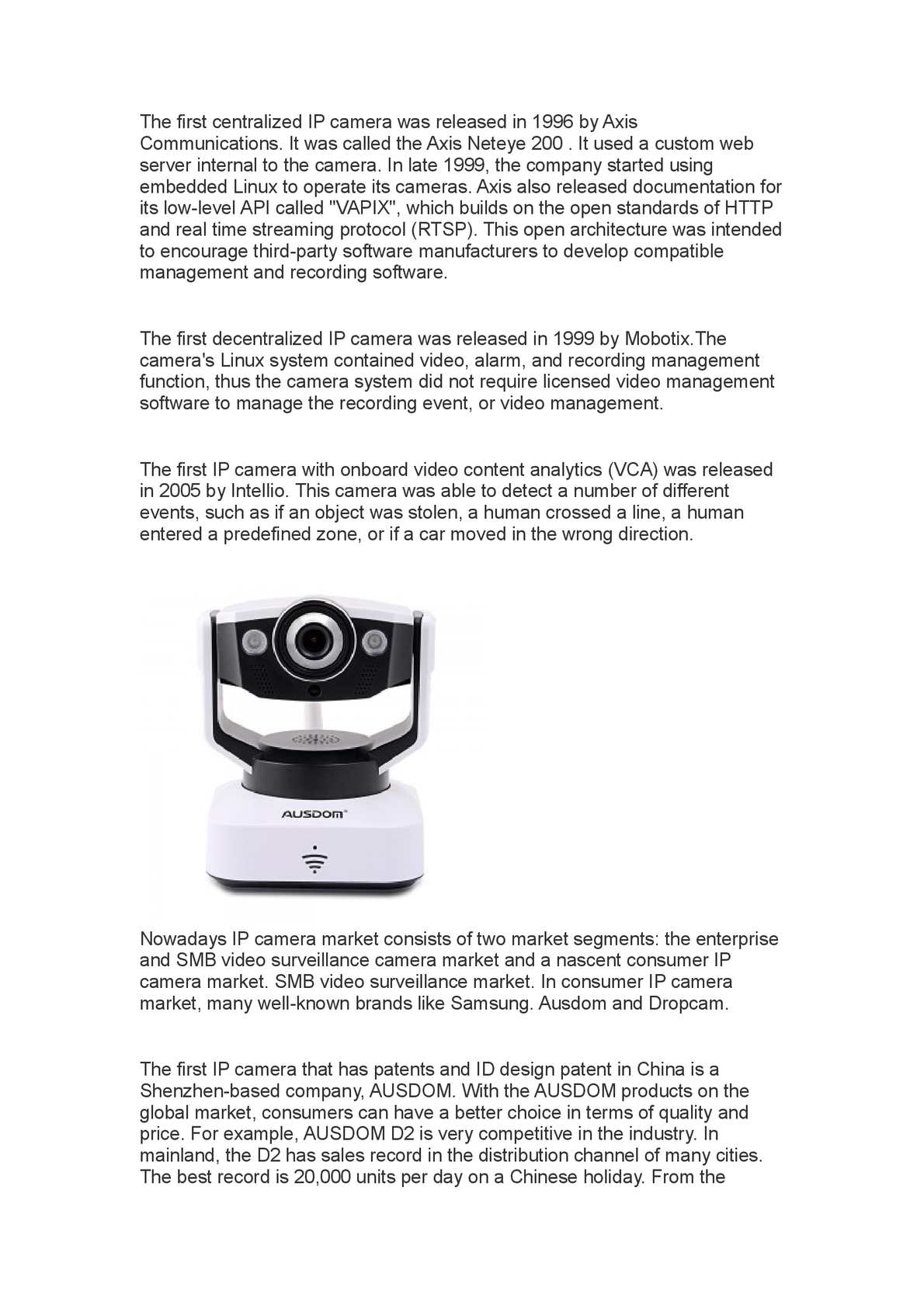 Materassi Vitha Group Linux Ip Camera