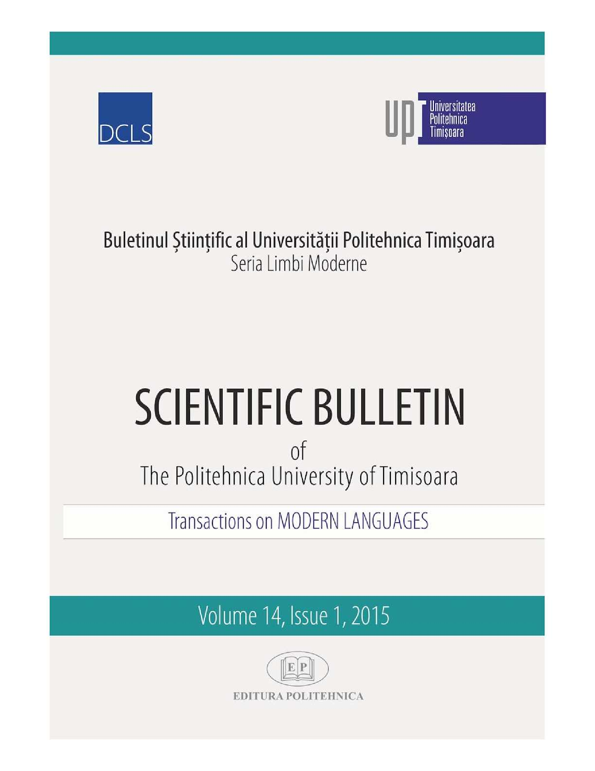 Calaméo Scientific Bulletin Transactions On Modern Languages