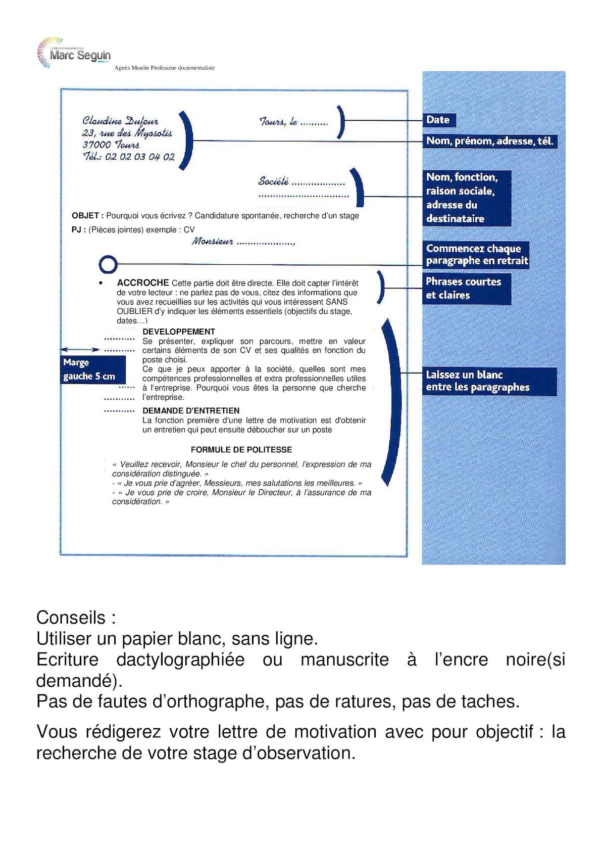 presenter ses competences sur un cv schema