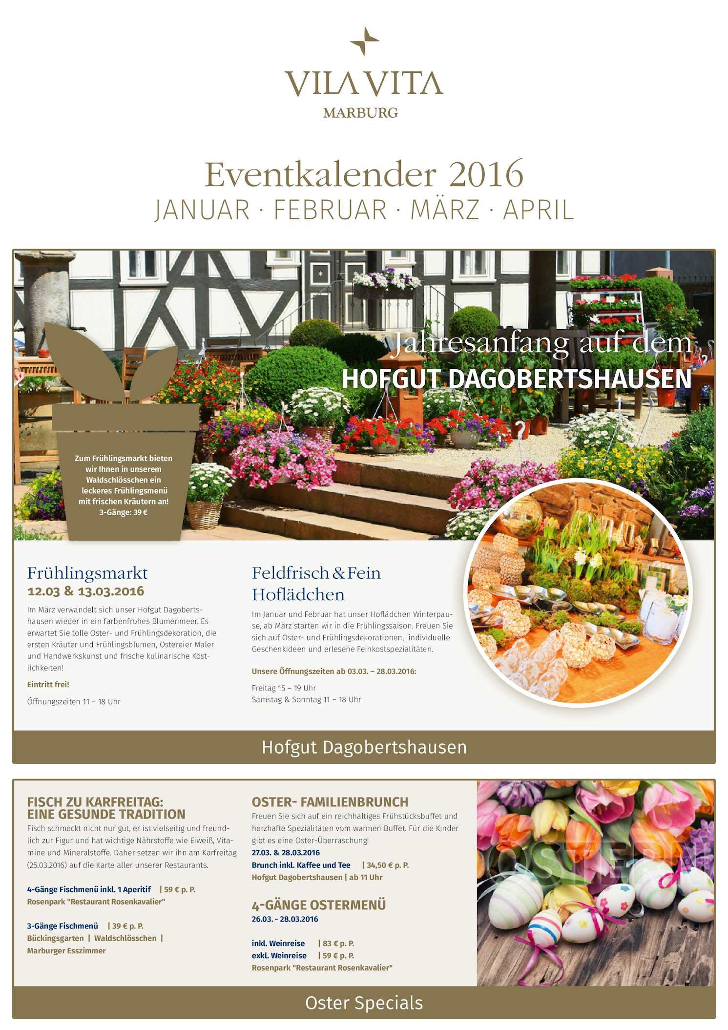 Esszimmer Marburg Calaméo Eventkalender Vila Vita Marburg Jan April 2016