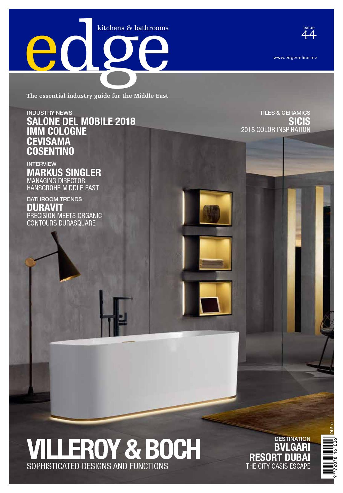Arredobagno Este Calaméo Edge Feb April 2018 Gcc Issue 44