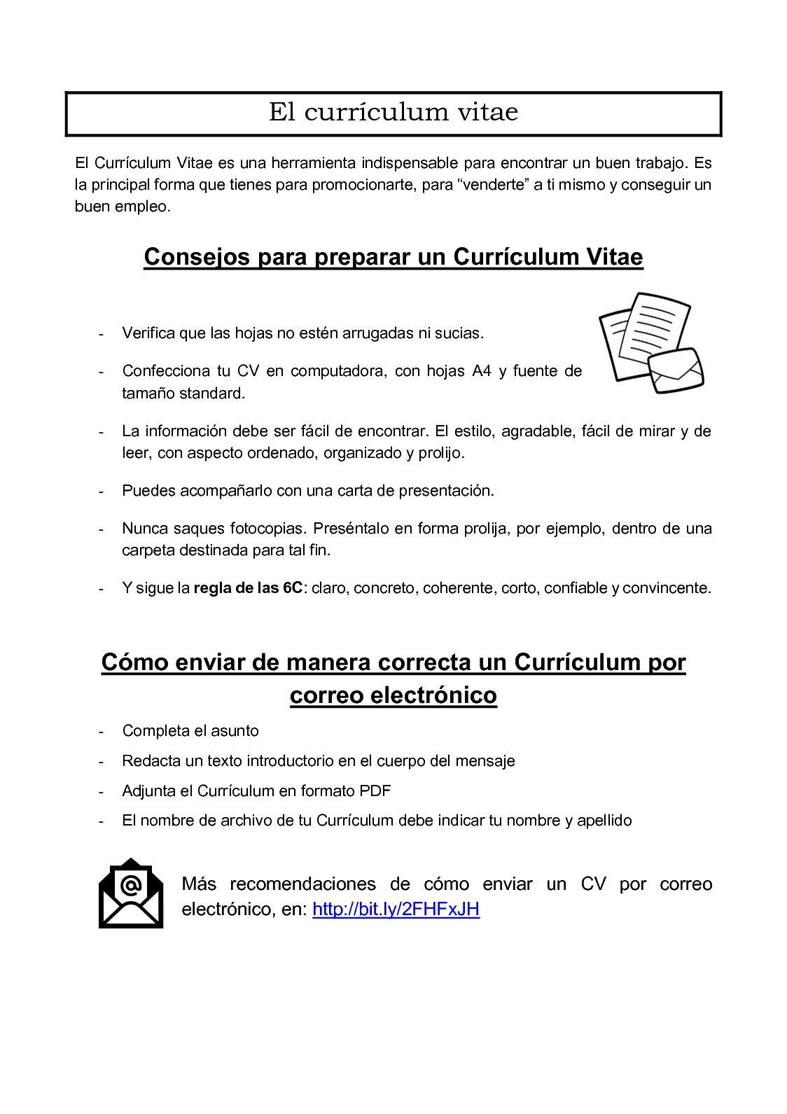 carta de presentacion cv