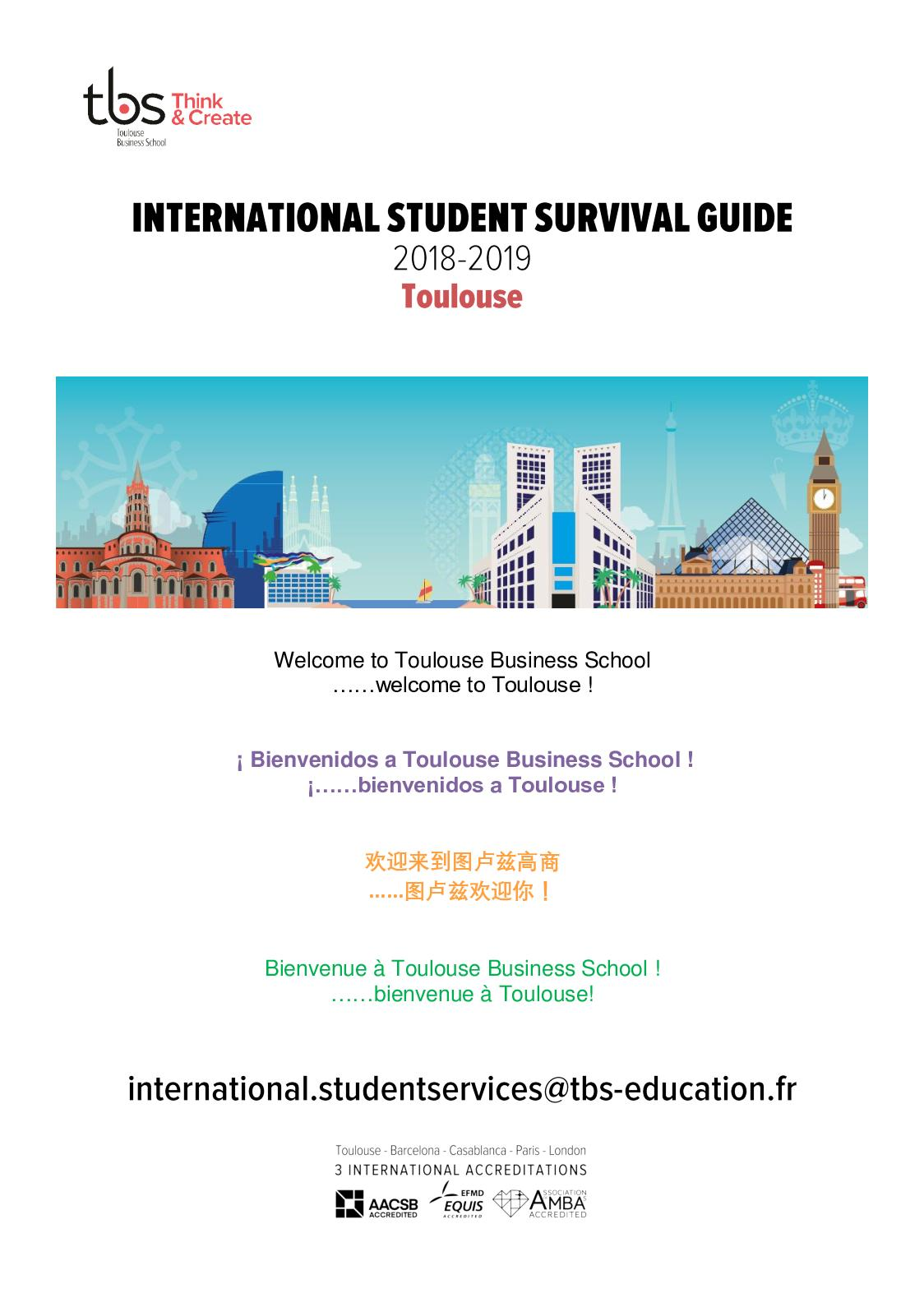 Bus Ikea Toulouse Calaméo Tbs Student Survival Guide Jan2019 Campus Toulouse