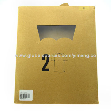 High-quality Kraft paper bag for T-shirt packaging, customized sizes