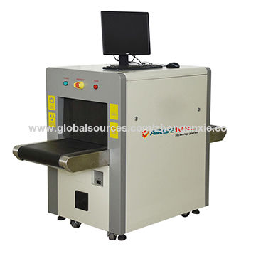 X-ray machine on wheels for mail and small baggage screening with a