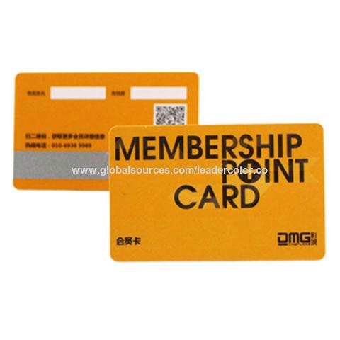 China RFID Membership Card from Shenzhen Manufacturer Shenzhen