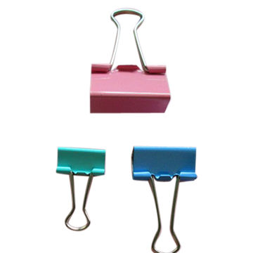 China Binder clips, various sizes/designs, diverse colors