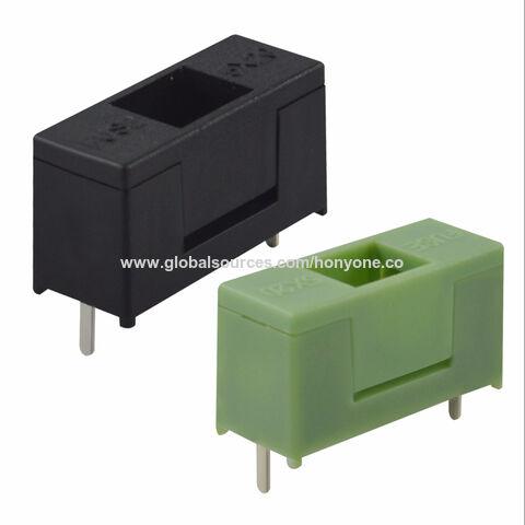 China PCB mounted plastic green fuse holder from Huizhou