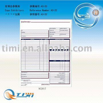 job Invoice Forms business forms Sales Order Book Job Work Order
