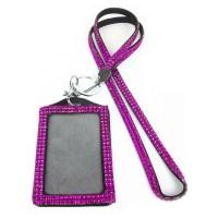 Rhinestone Bling Crystal Custom Lanyard Vertical ID Badge ...
