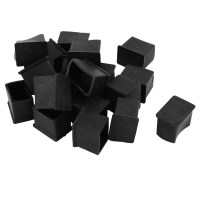 Rubber PVC Covers Chair Leg Protector End Caps 20mmx30mm ...