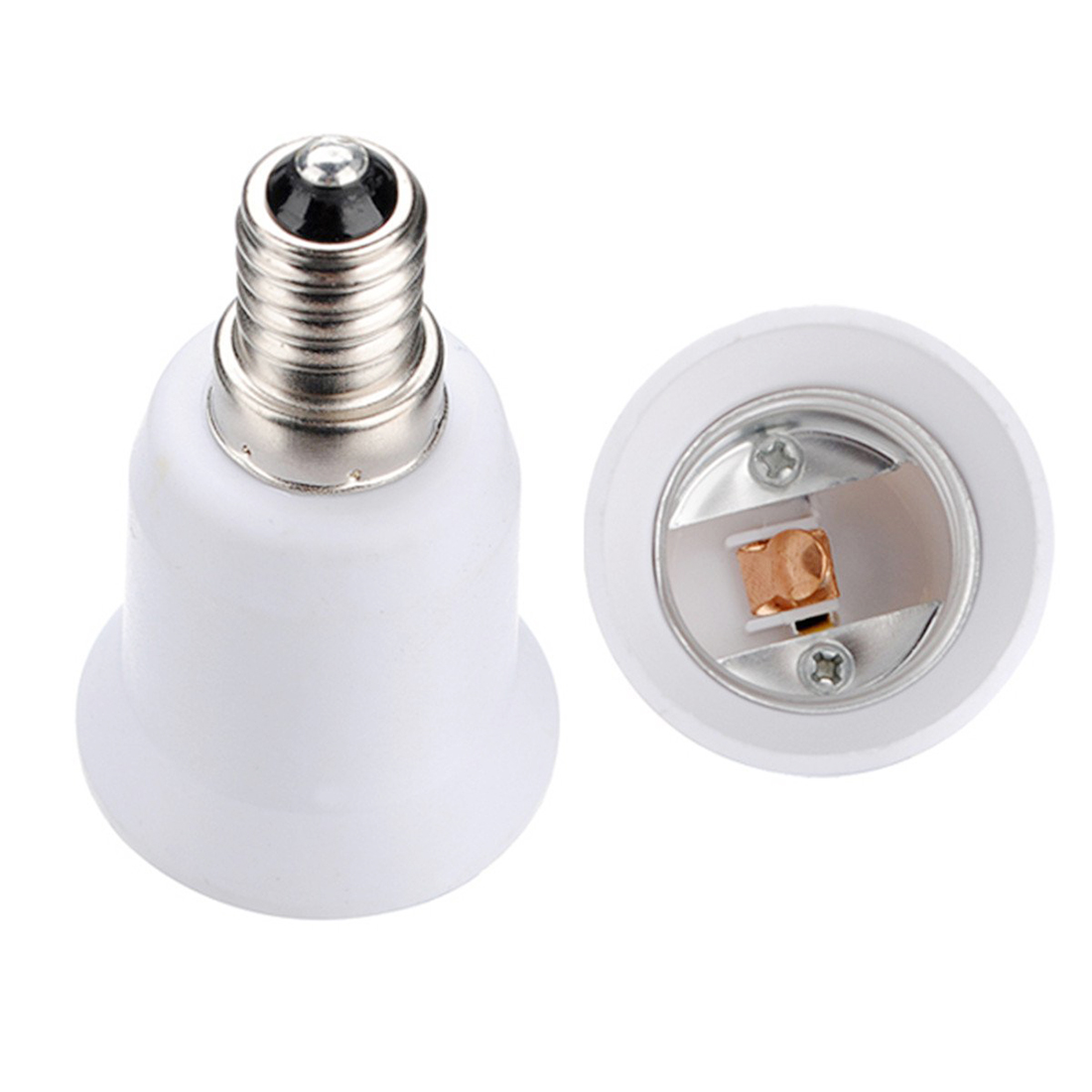 E14 E27 Adapter 4 Pcs Socket Adapter E14 To E27 Bulb Lamp Adapter