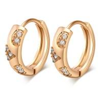 Gold plated Hoop Earrings for women CZ Stone Earring BT   eBay