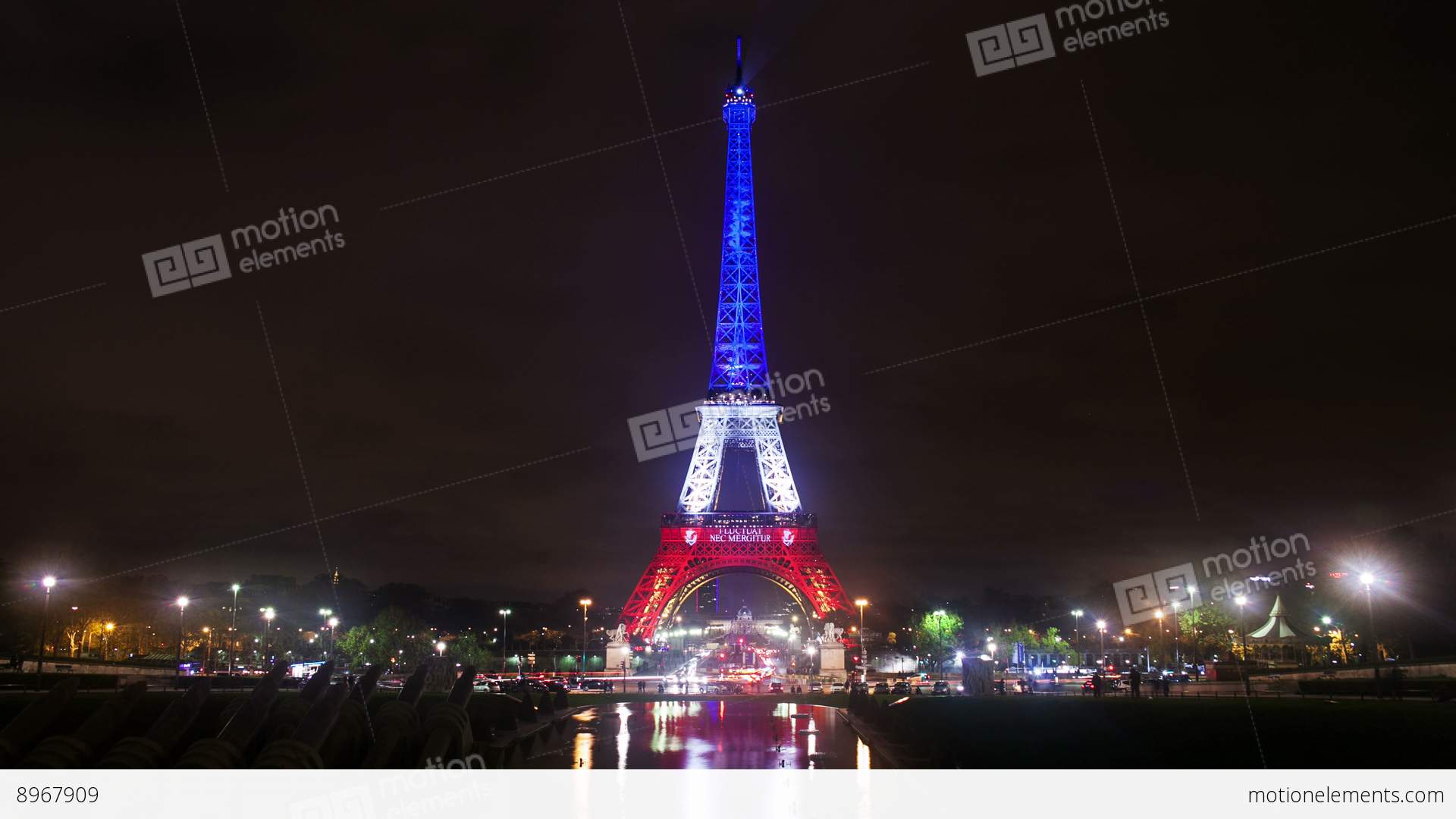 Photo Stock Paris A Timelapse View On Eiffel Tower In Paris By Night With France Flag Colors Stock Video Footage