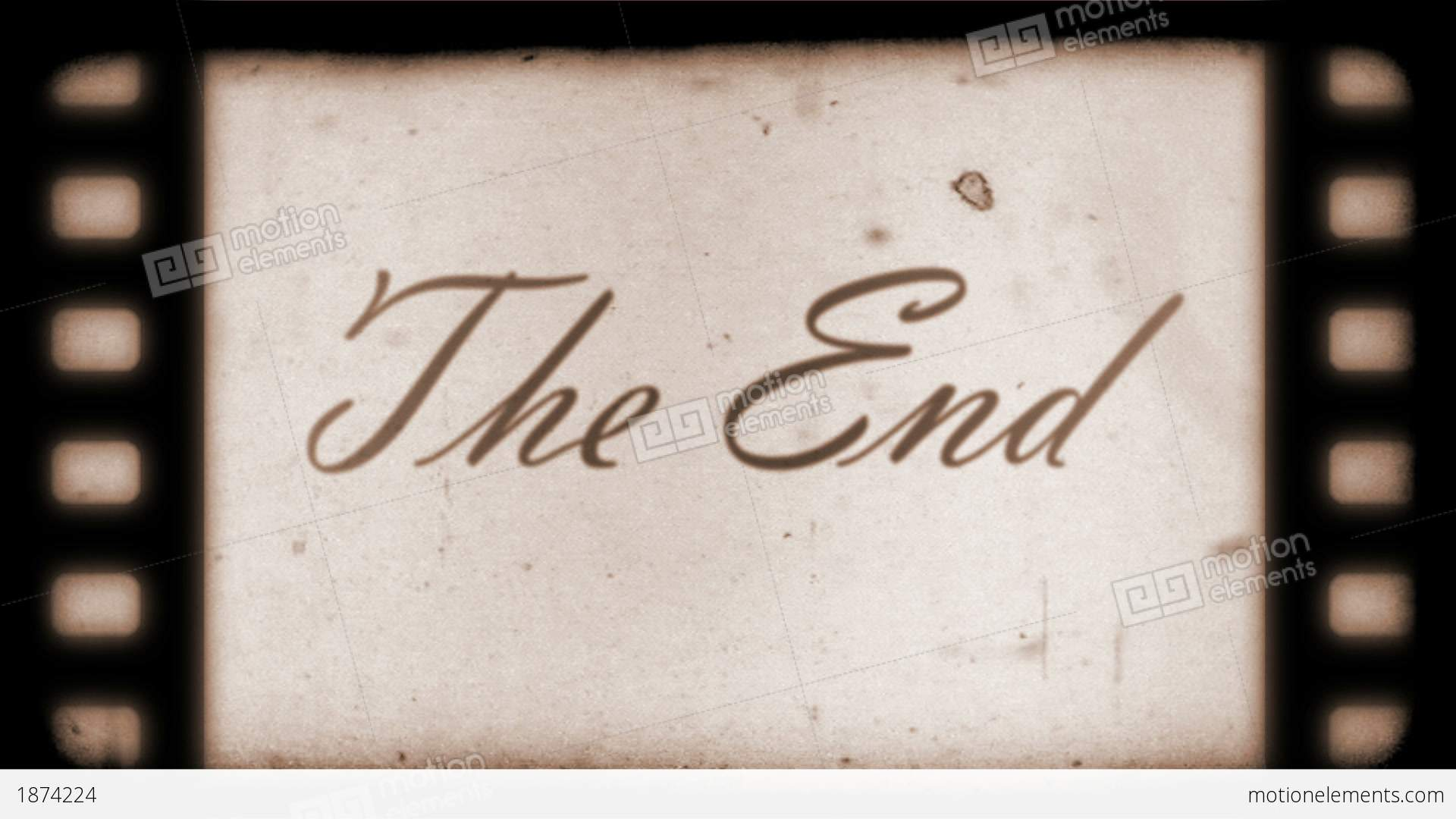 Animation Movie Wallpaper The End Vintage Filmstrip Stock Animation 1874224