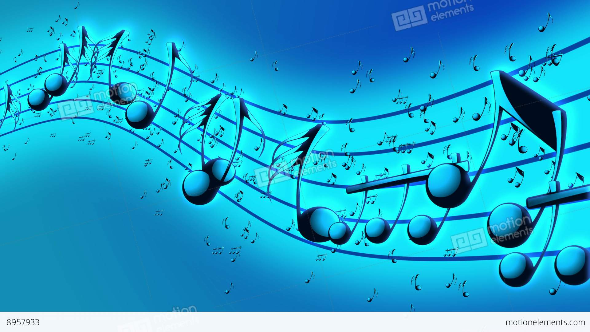 Cute Science Wallpaper Animated Background With Musical Notes Stock Video Footage