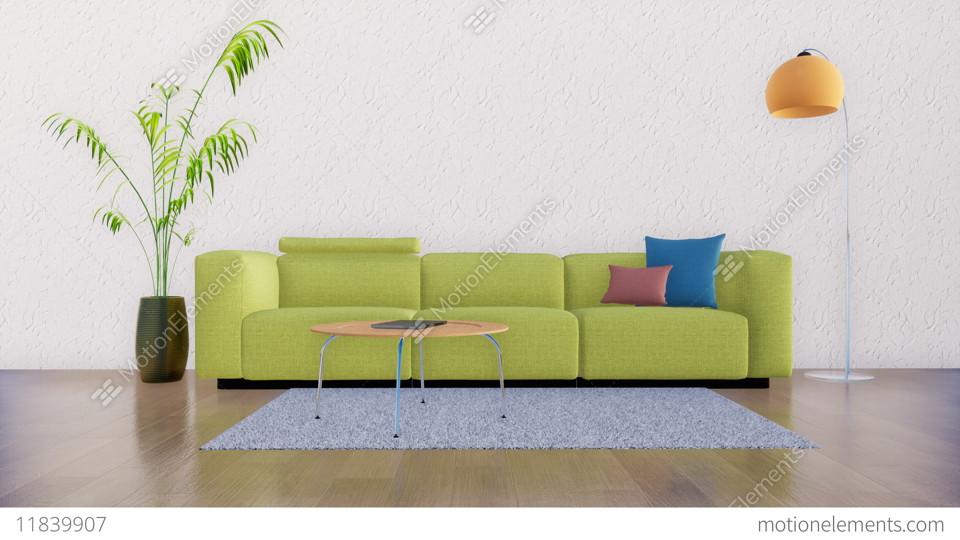 Minimalist Living Space Minimalist Living Room Interior With Copy Space 3d Stock Video Footage