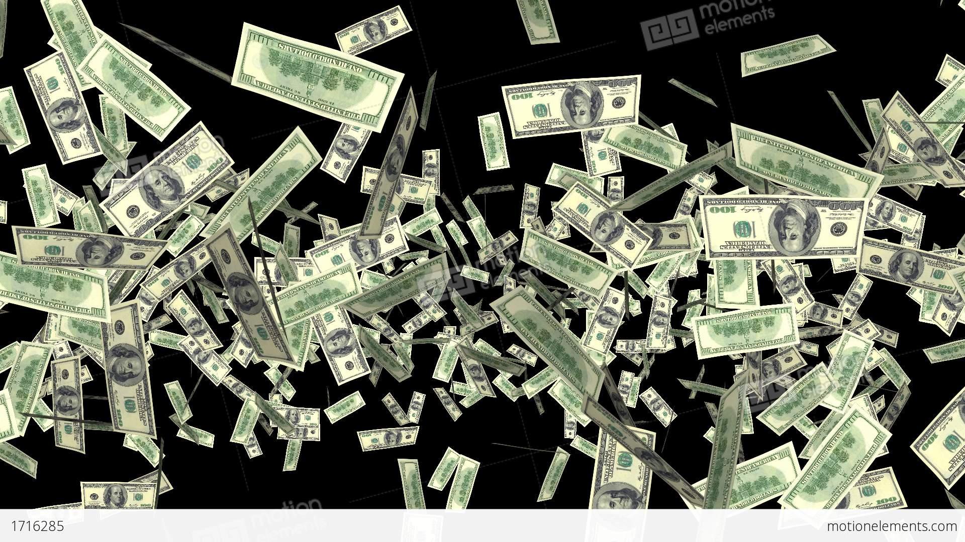 Falling Money Hd Wallpaper Money Explosion 100 Usd Bills I Stock Animation 1716285