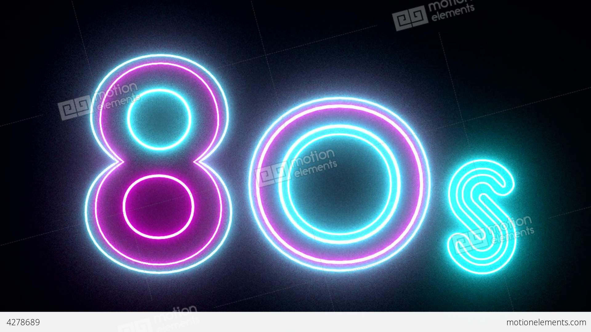 Blue Neon Hd Wallpaper 80s Neon Sign Lights Logo Text Glowing Multicolor Stock