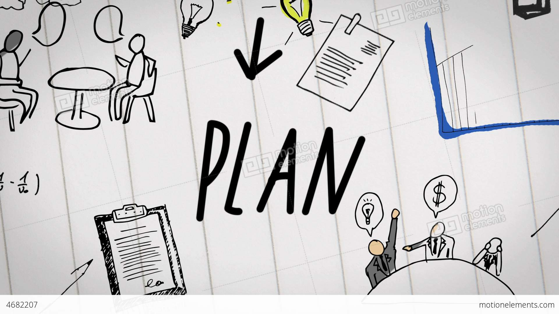 3d Earth Wallpaper Hd Colored Animation Of Business Plan Drawn Into Note Stock