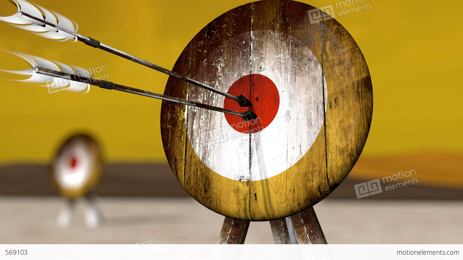 Archery Wallpaper Hd Medieval Arrow Target Hd Stock Animation 569103