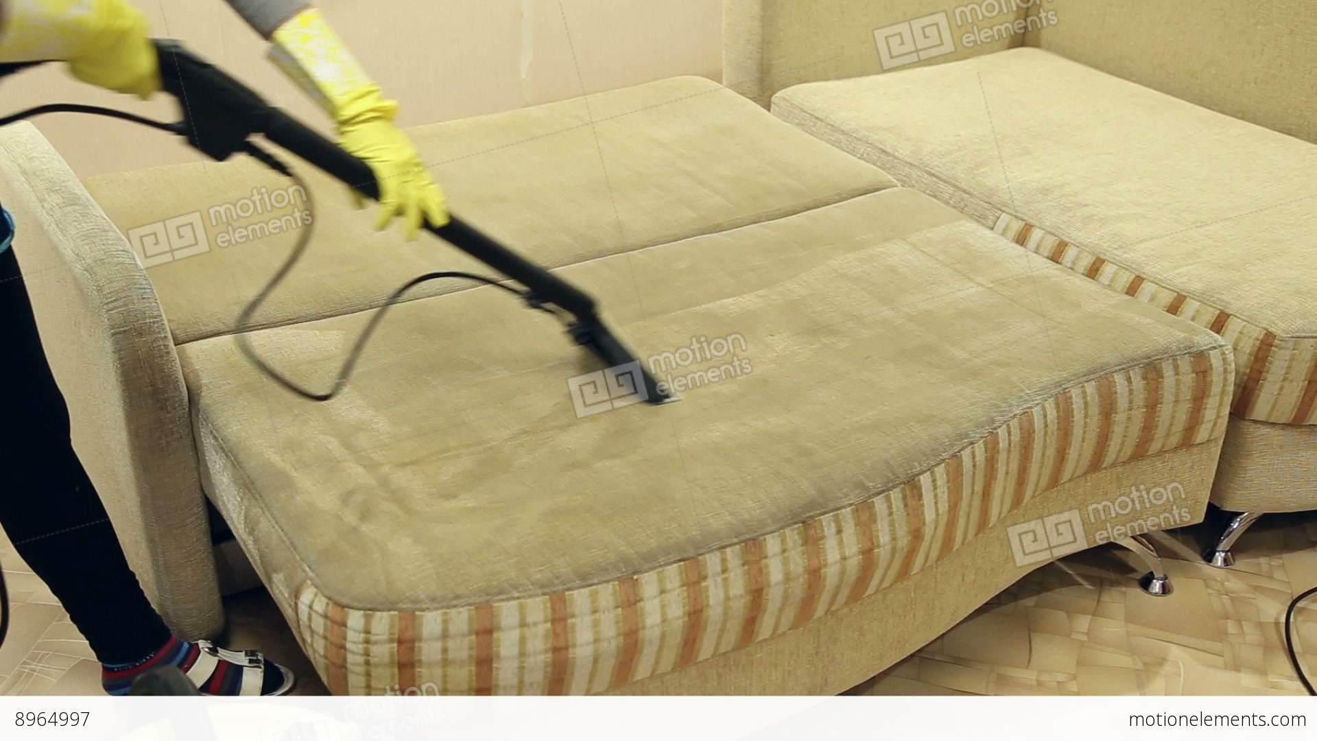 Sofa Service Service Cleaning Dirty Sofa And Chairs With Special Tool Stock Video Footage