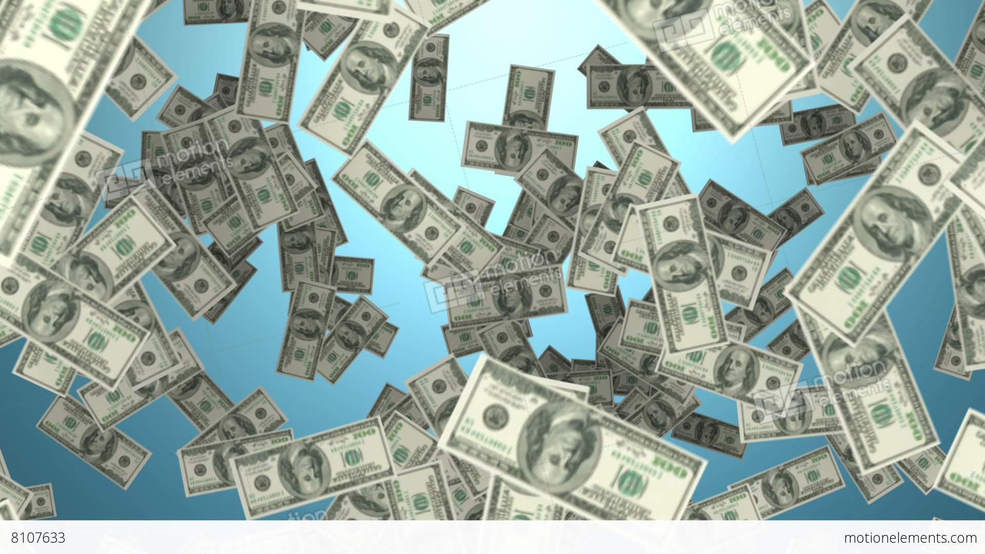 Falling Money Wallpaper Hd Raining Money Stock Animation 8107633