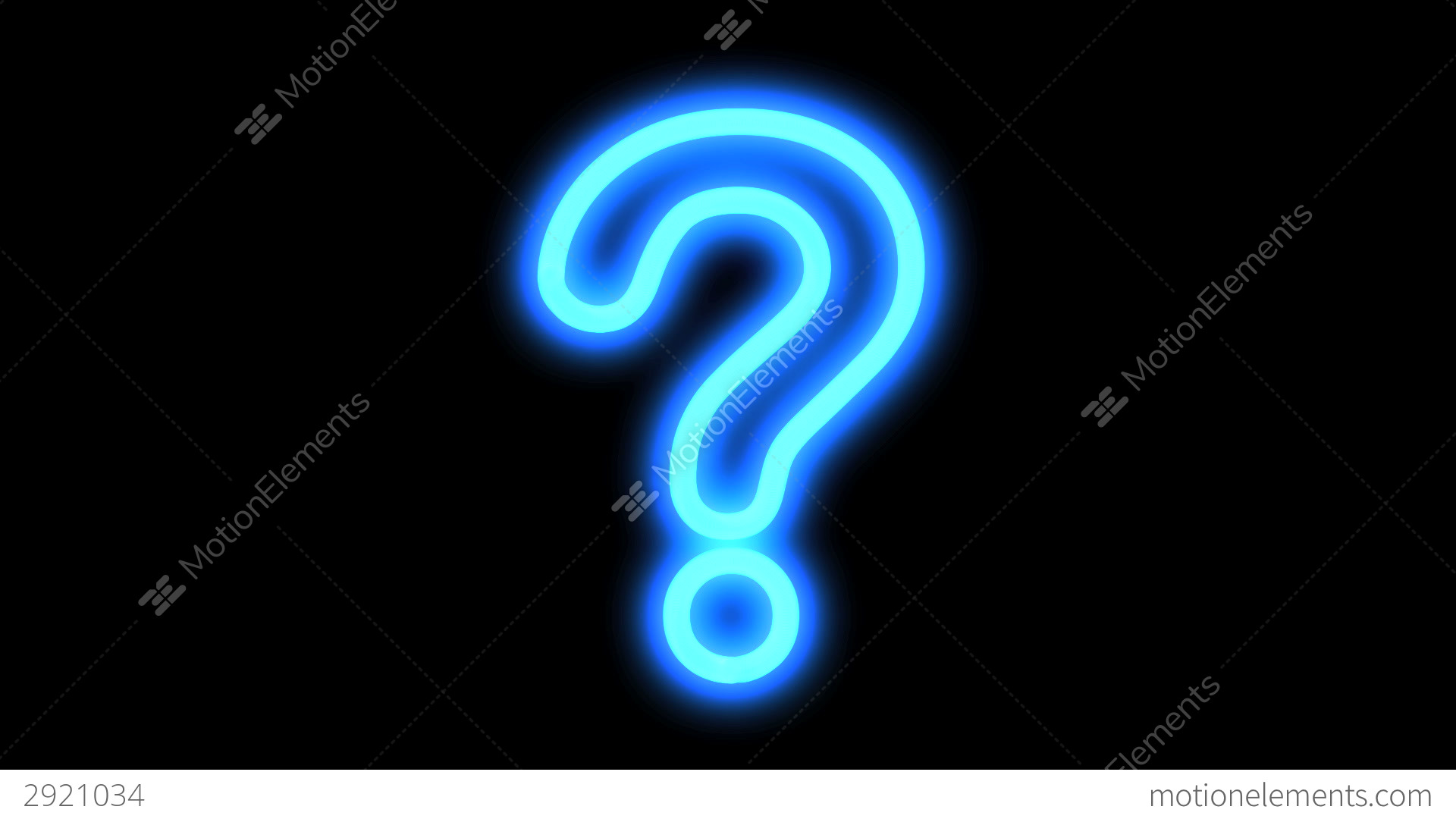 Cute Black Wallpaper Blue Question Mark Stock Animation 2921034