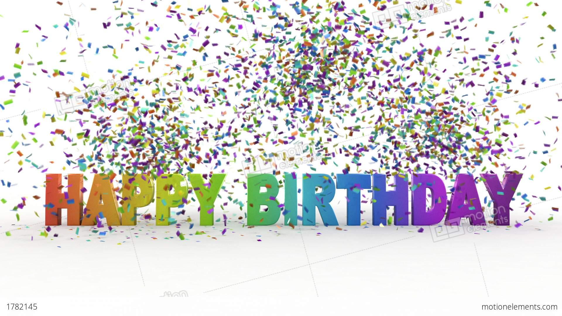 3d Money Wallpaper Happy Birthday Stock Animation 1782145