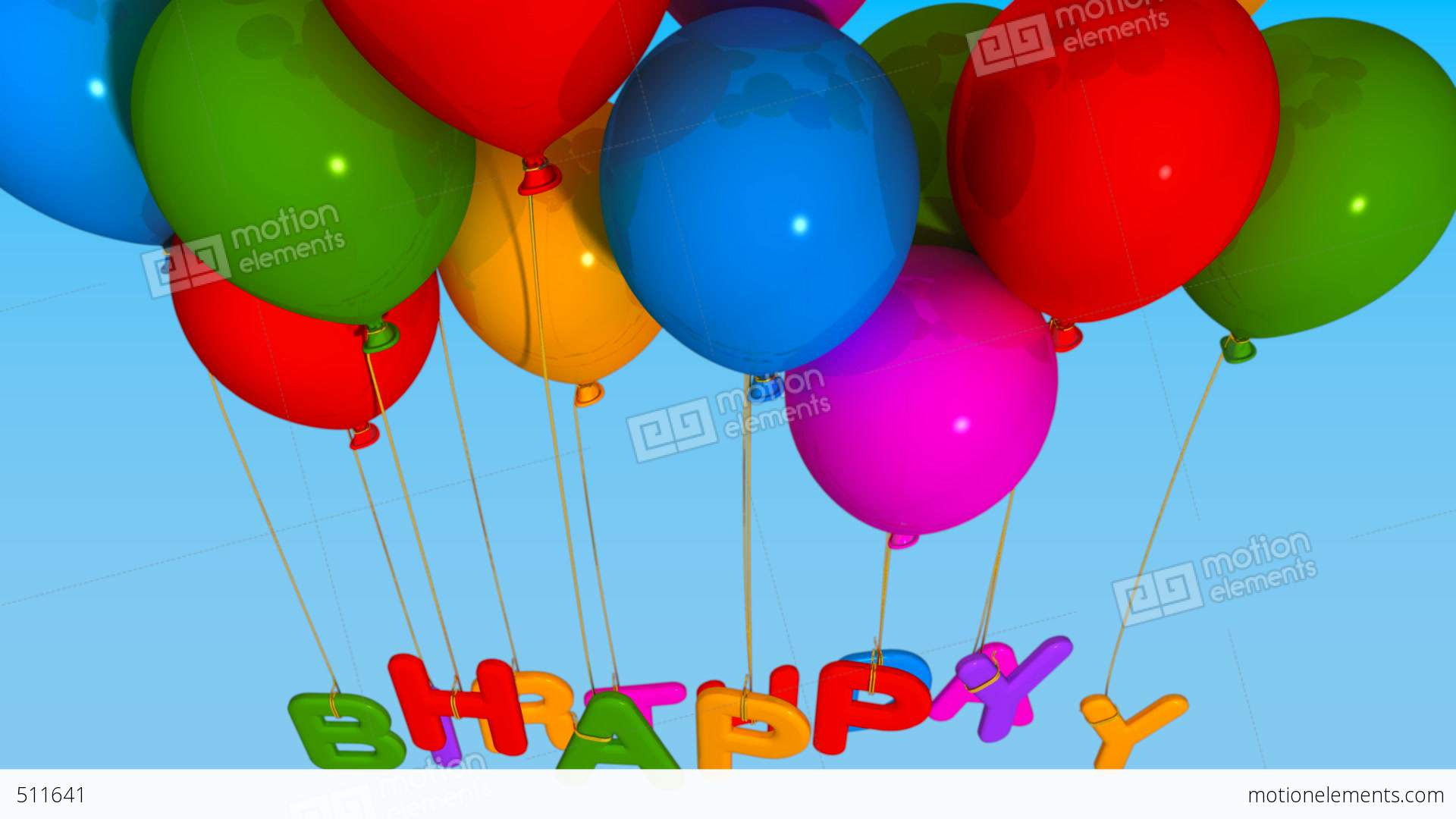 Ballons Balloon Happy Birthday Stock Animation 511641