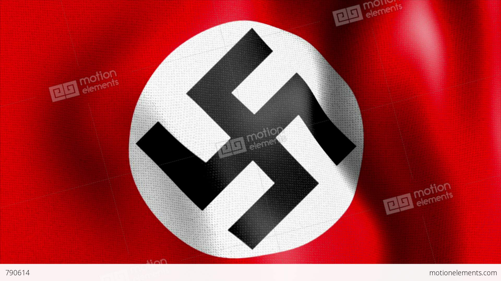 Army 3d Wallpaper 10675 Waving Swastika Nazi Flag Stock Animation 790614
