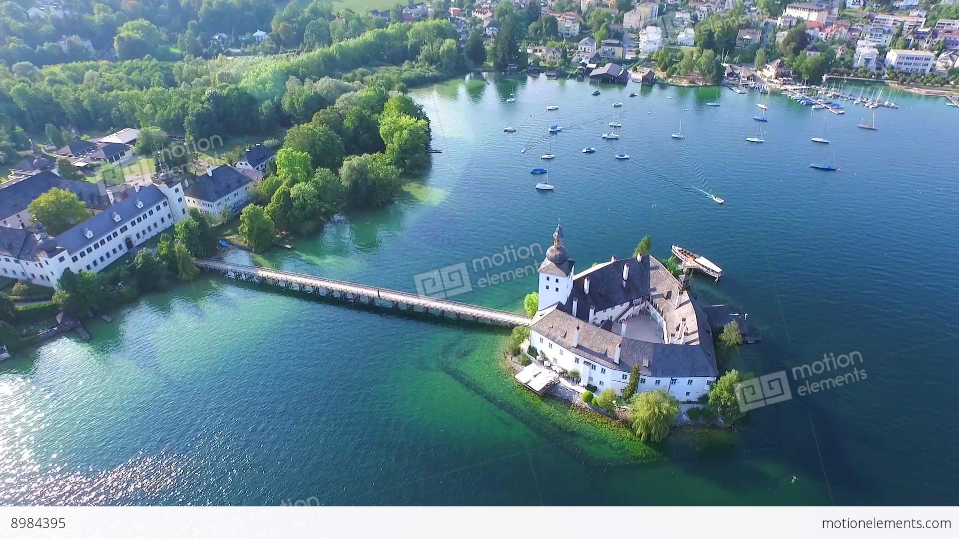 Vertical Wallpaper Hd Gmunden Traunsee Lake Austria Summer Stock Video Footage