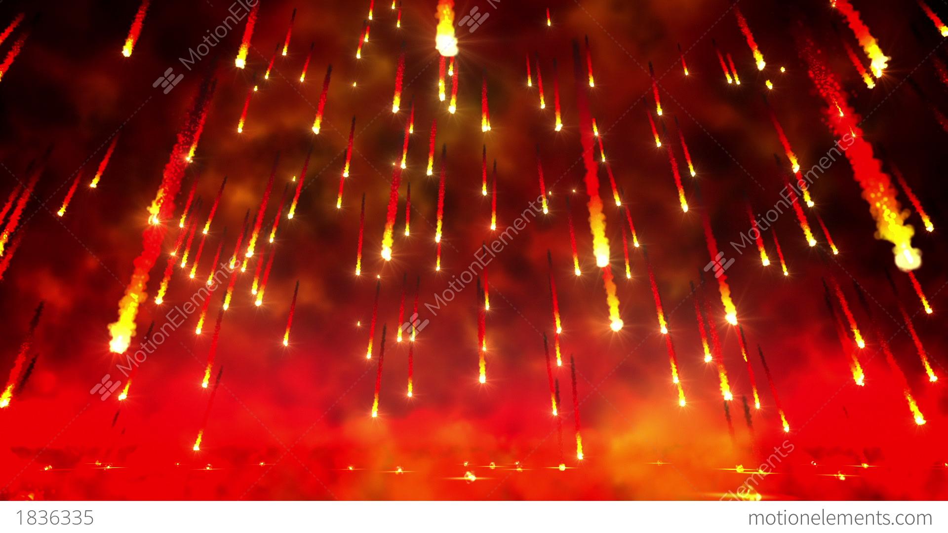 Danger 3d Wallpaper Fire Rain Loop Stock Animation 1836335