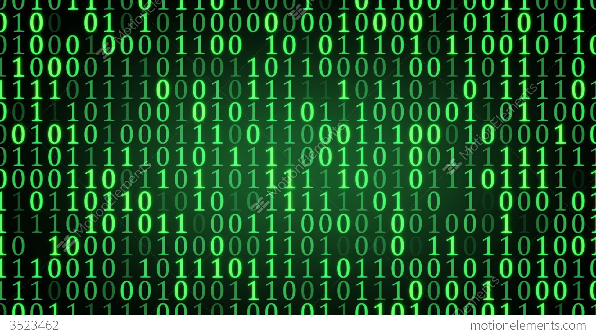3d Tunnel Wallpaper Green Binary Digital Code Loop Stock Animation 3523462