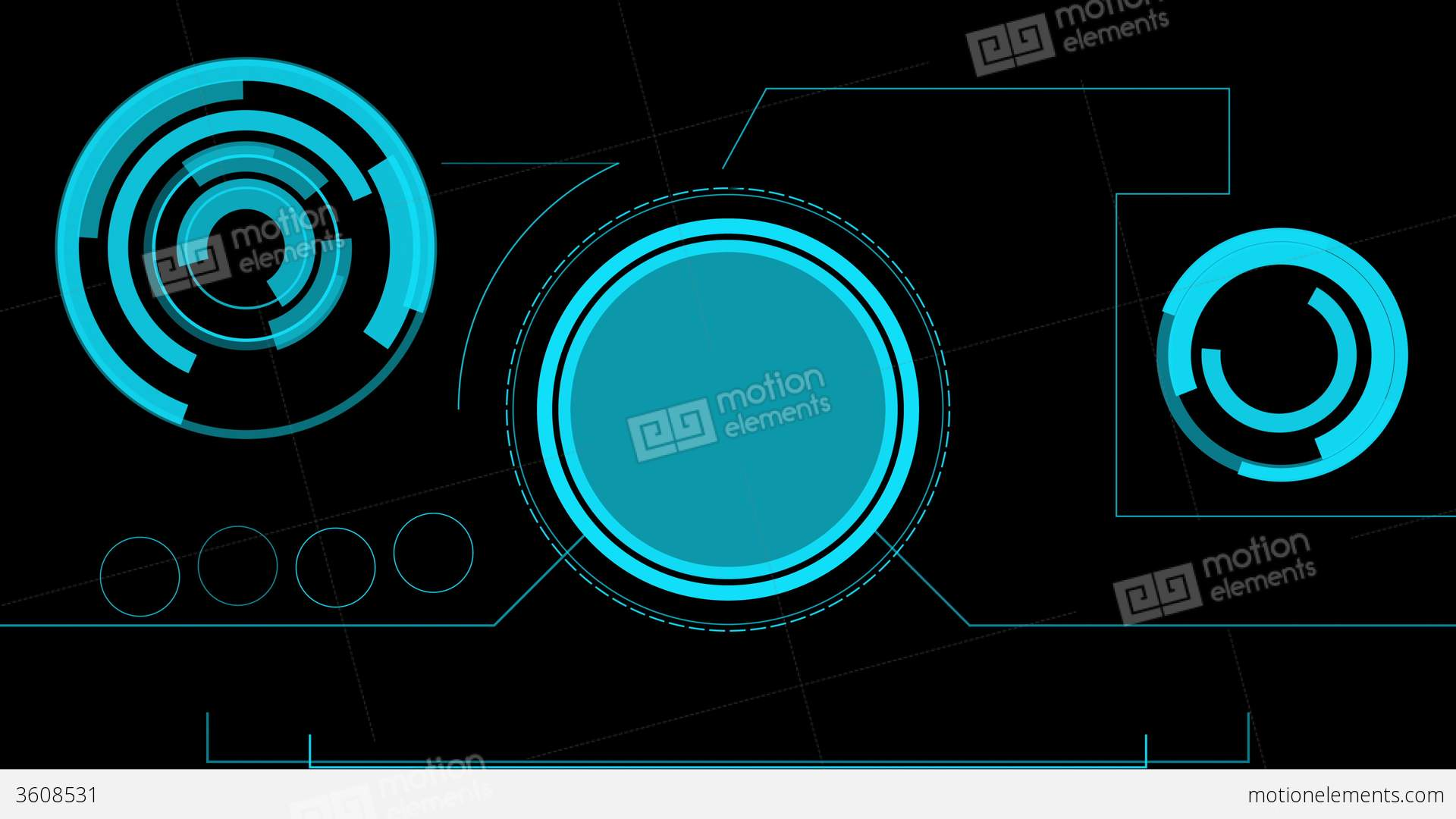 3d Hologram Effect Wallpaper Hologram Futuristic Interface Abstract Motion Hud Stock