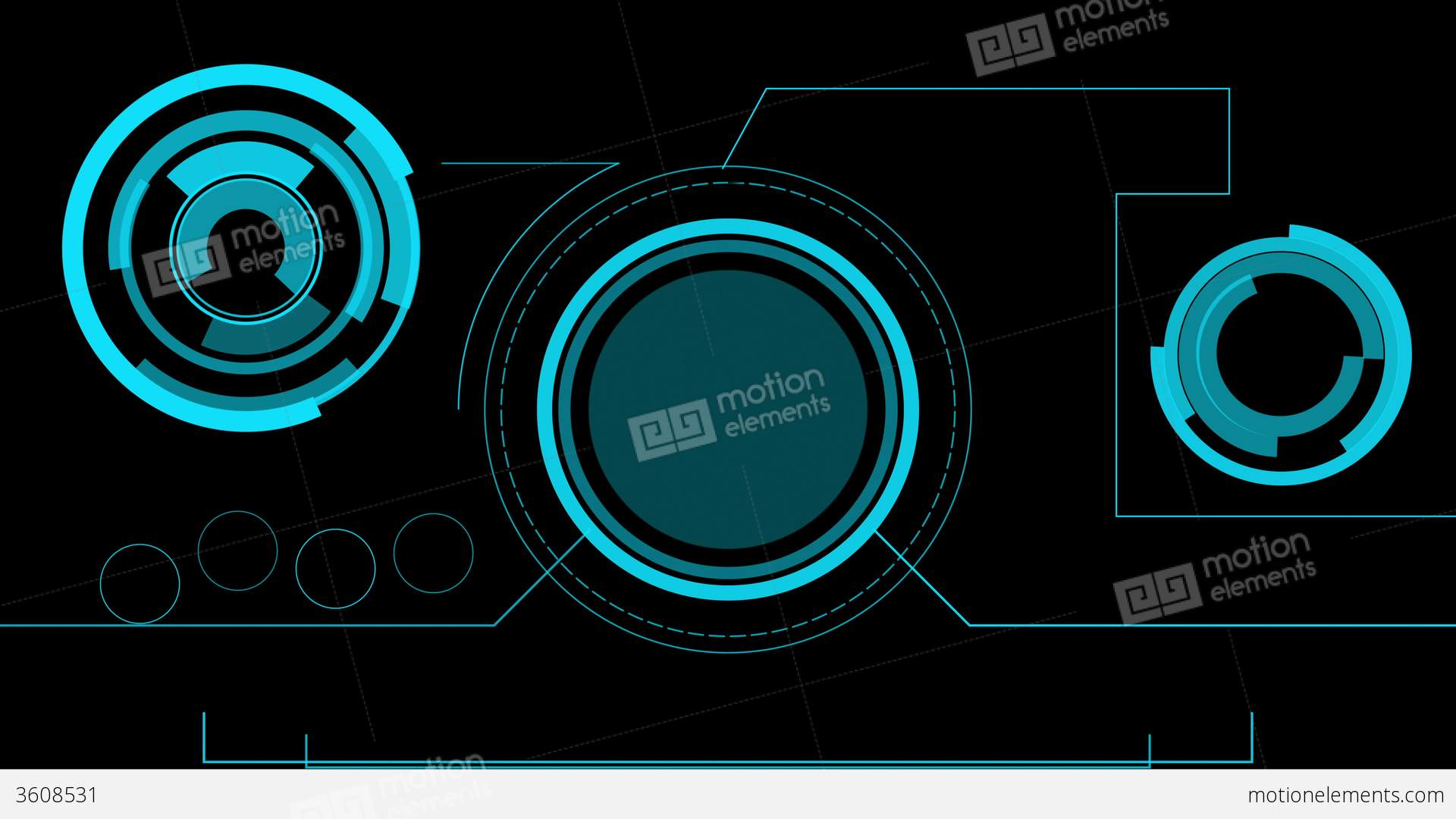 3d Hologram Wallpaper For Pc Hologram Futuristic Interface Abstract Motion Hud Stock