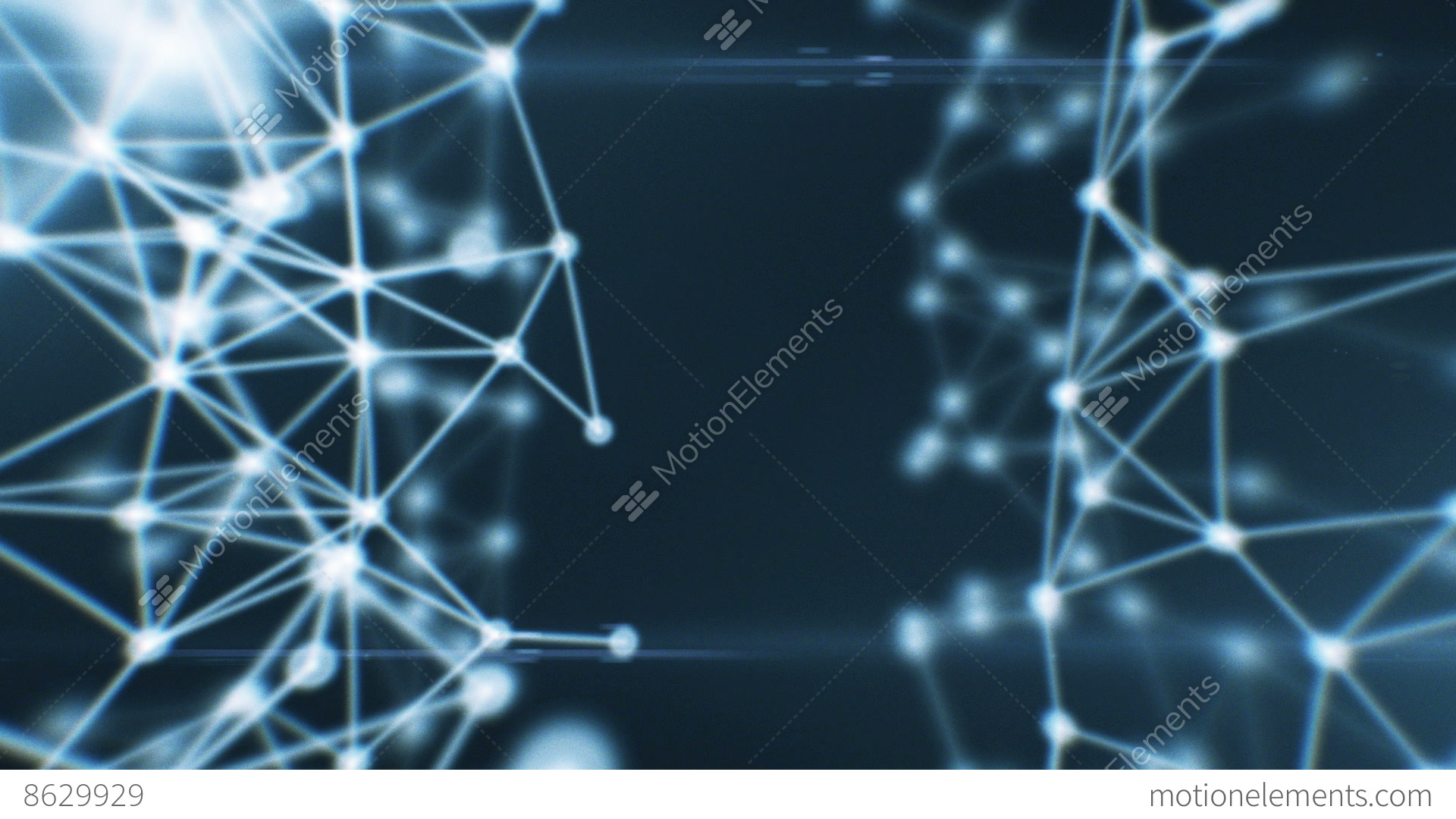 Abstract beautiful network animation dots connecting stock video footage