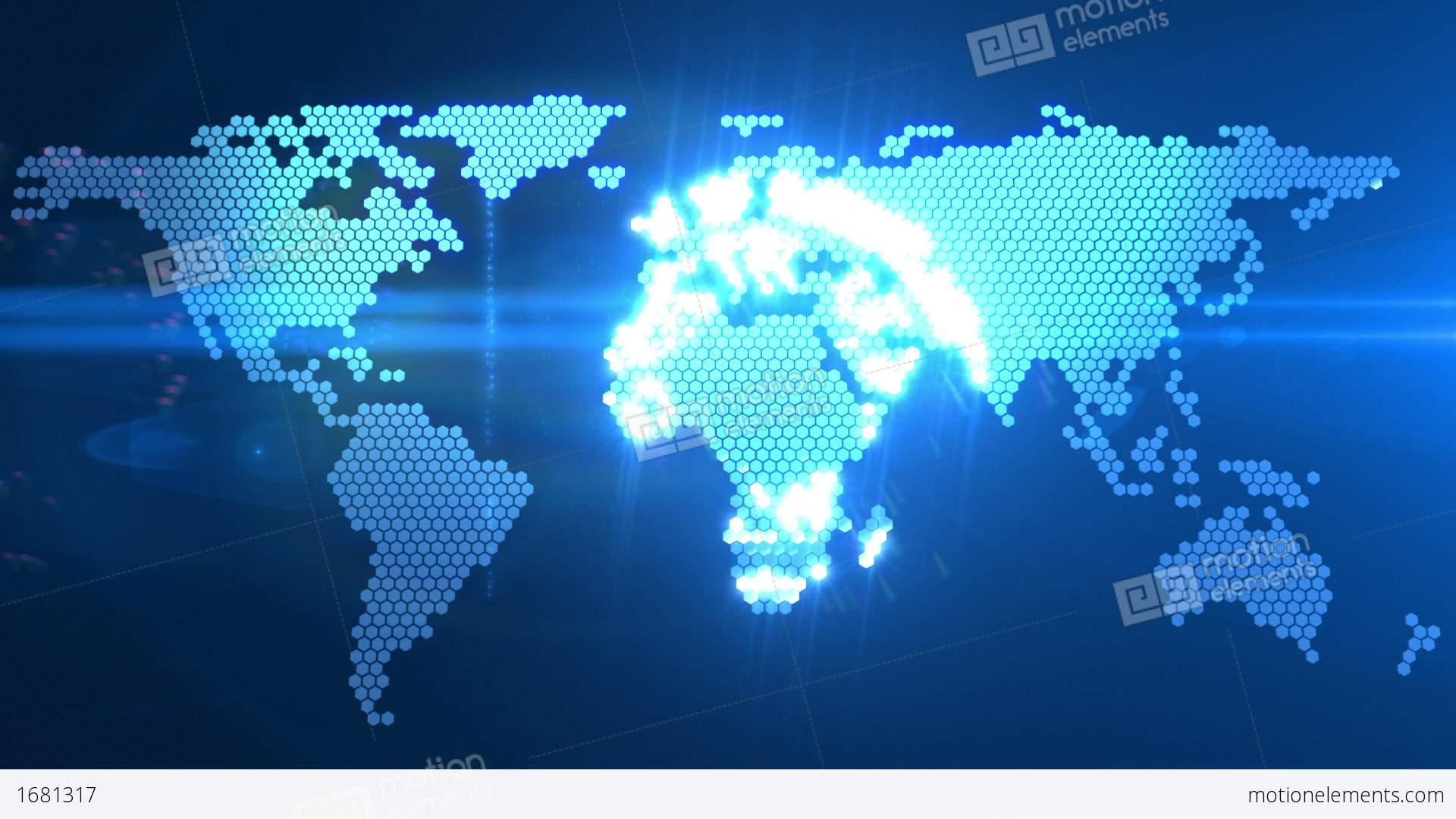 3d Earth Wallpaper Hd Digital World Map Stock Animation 1681317
