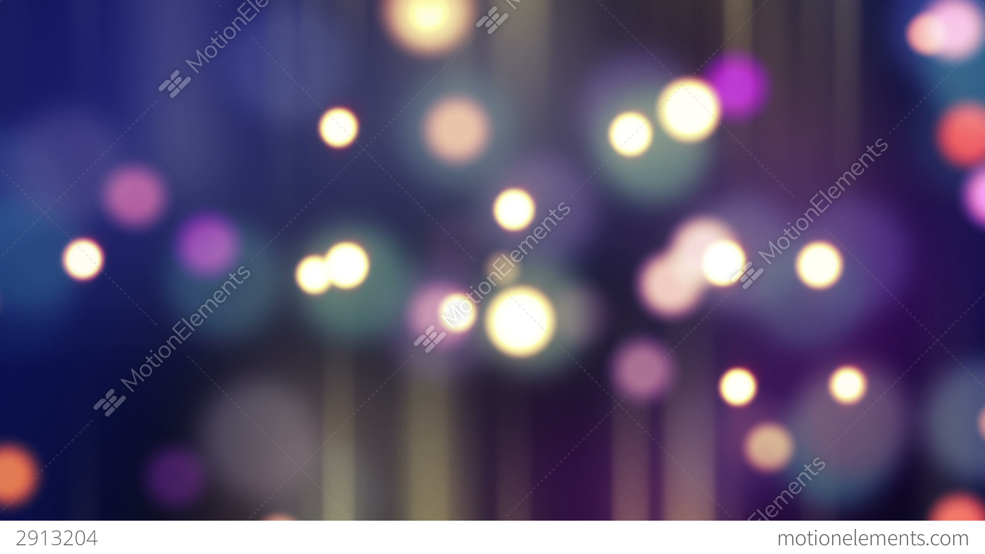 Glowing Bulb Animation Blurred Glowing Bokeh Lights Loop Background Stock