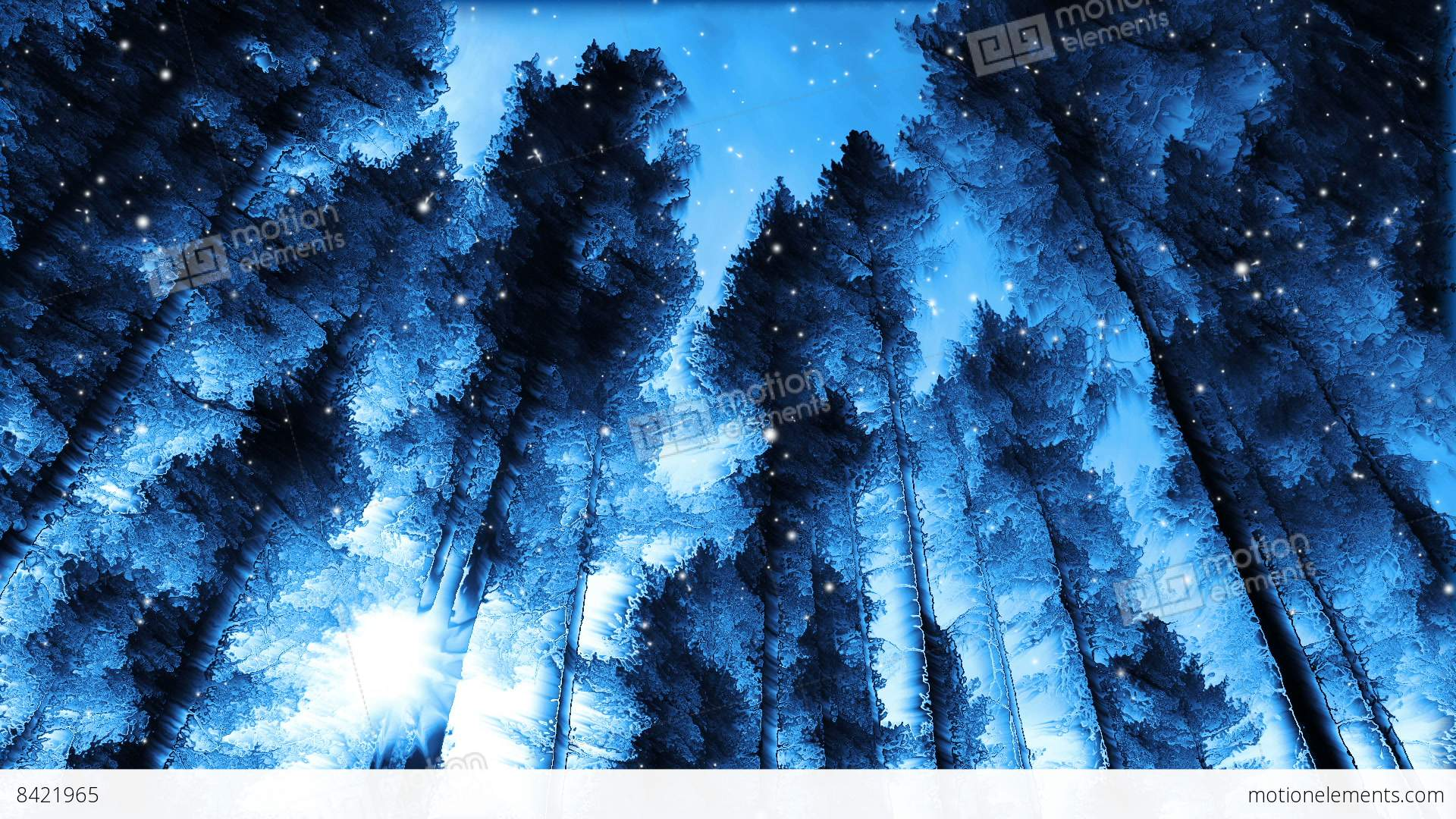Snow Falling Gif Wallpaper Abstract Winter Forest Stock Animation 8421965