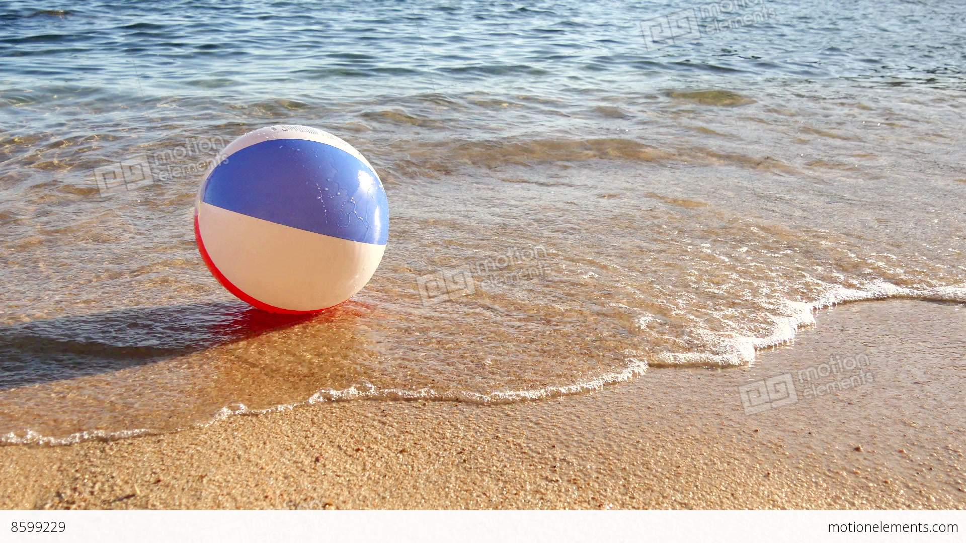 3d Money Wallpaper Beach Ball At The Mercy Of The Waves Stock Video Footage