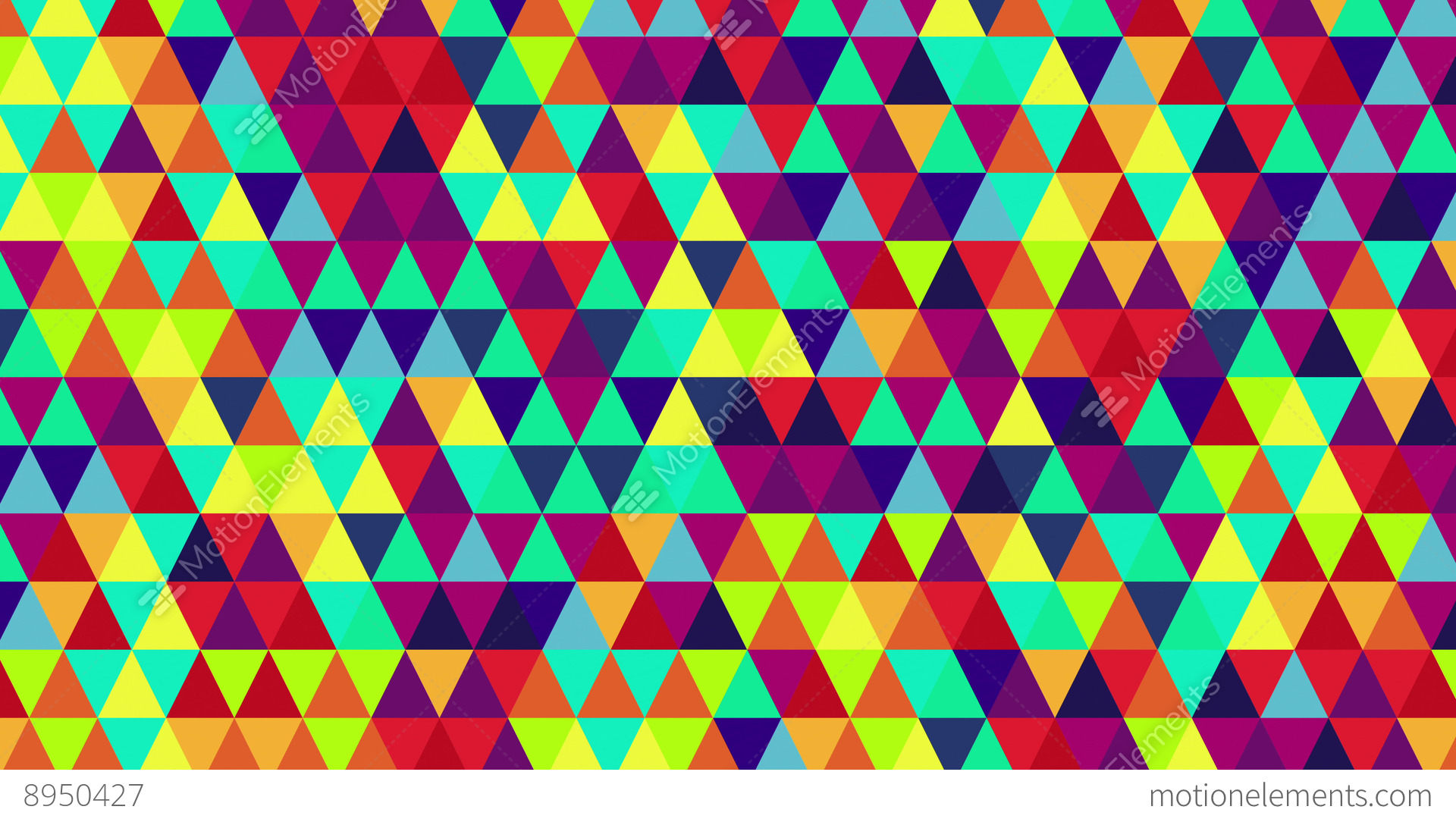 3d Rainbow Psychedeli Wallpaper Bright Color Triangles Seamless Loop Geometric Background