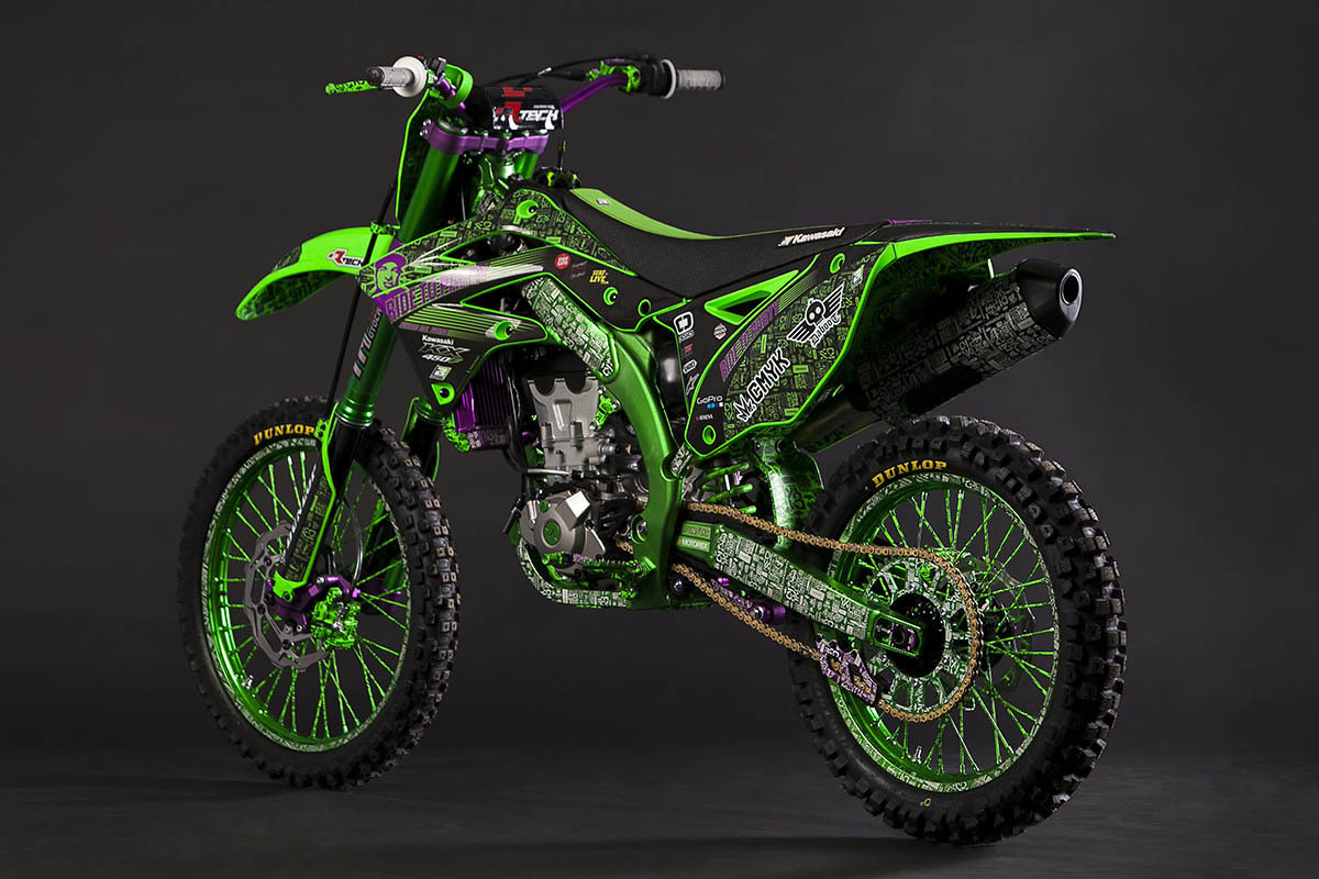Black Design Wallpaper Kawasaki Kx 450f Party Fluo Edition Moto Related