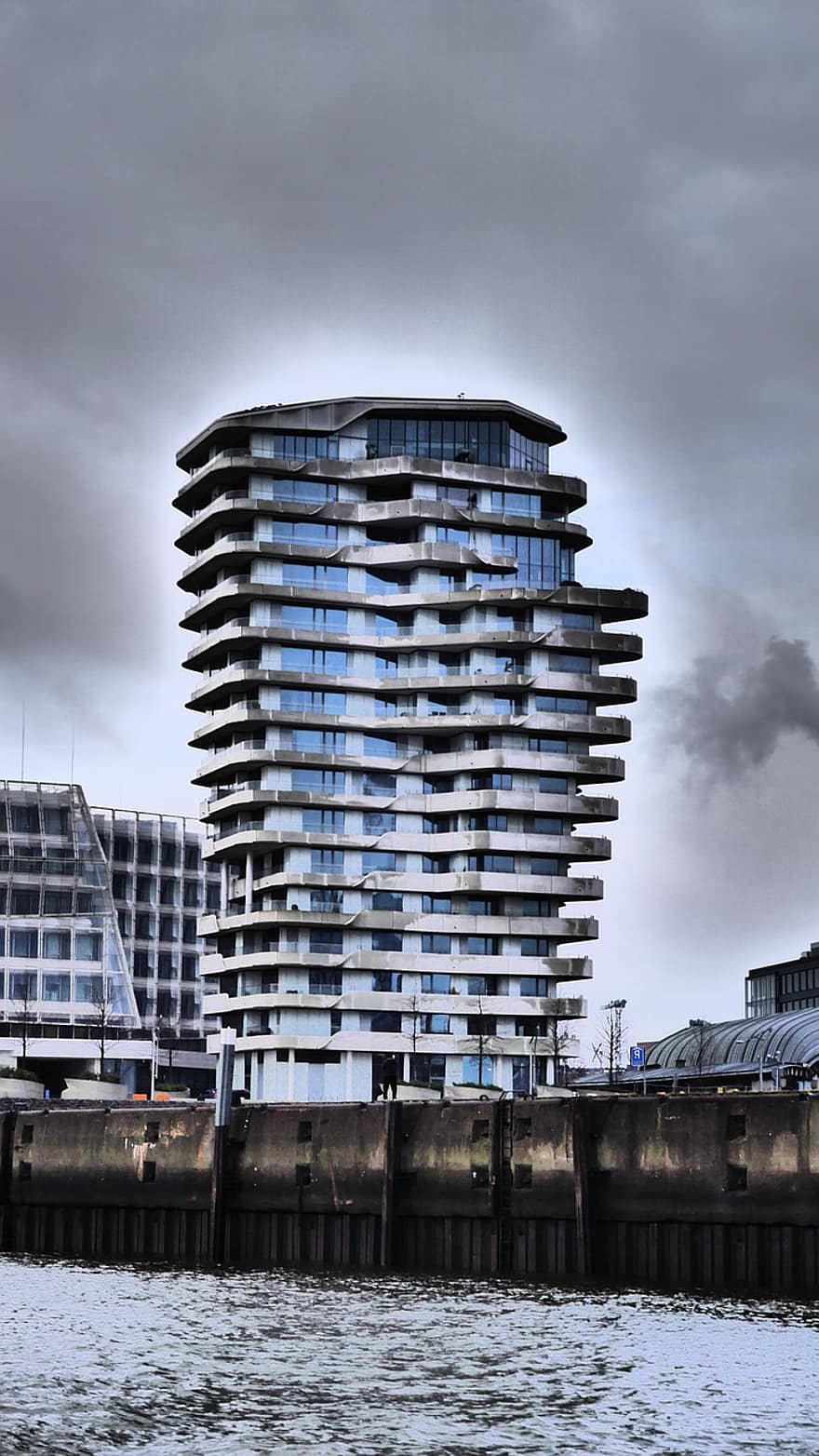 Marco Polo Tower Harbour City, Hamburg, Hanseatic City, Marco-polo-tower, Architecture, Water | Pikist